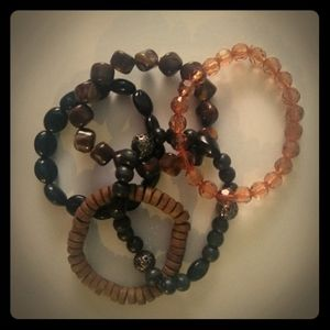 ☀ 3/20 Stretchy Stacking Beaded Braclets